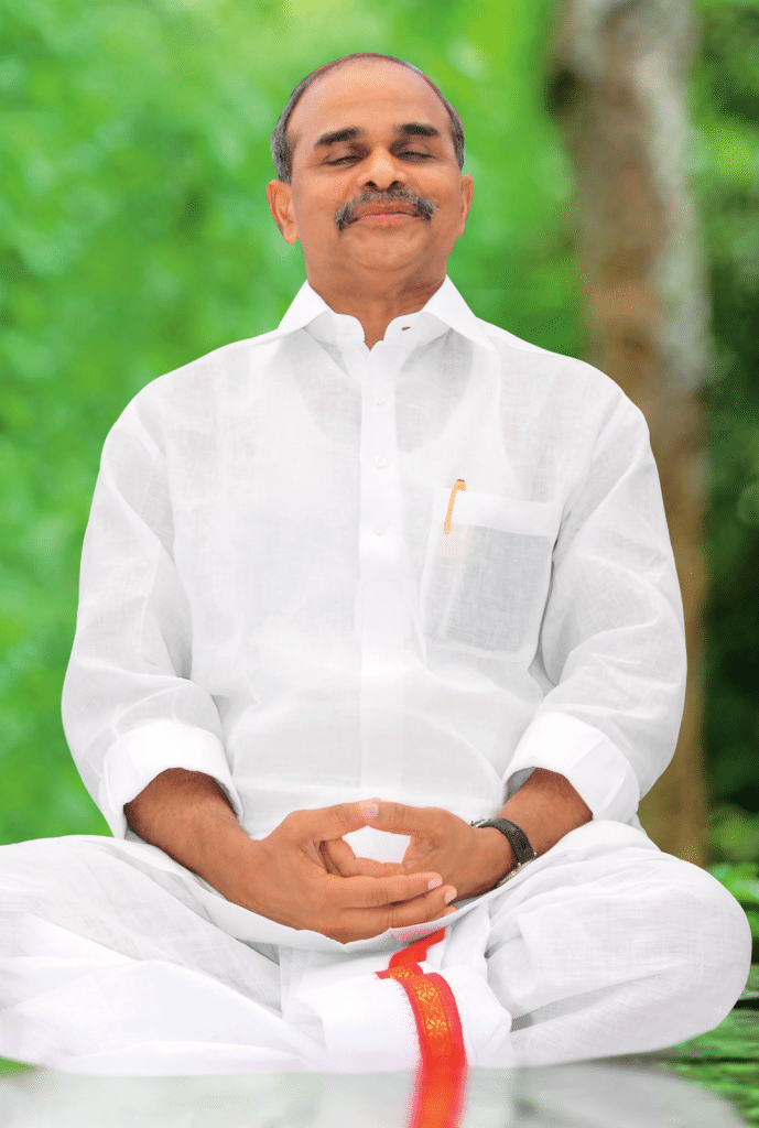 YS Rajashekar Reddy doing Yoga